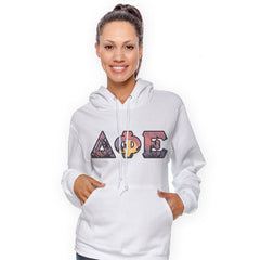 Sorority Panoramic Printed Hooded Sweatshirt - Gildan 18500 - SUB