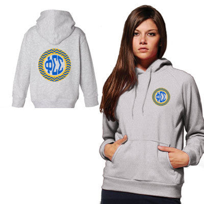 Sorority Printed Chevron Hooded Sweatshirt - Gildan 18500 - CAD