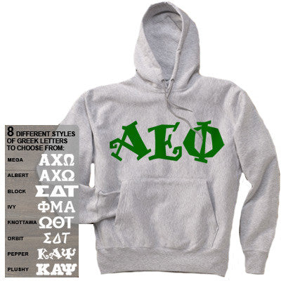Sorority Printed Hoody with 8 Fonts - Gildan 18500 - CAD