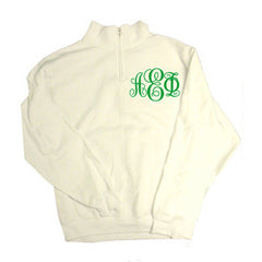 Greek Quarter-Zip with Printed Script Monogram - Jerzees 995M - CAD