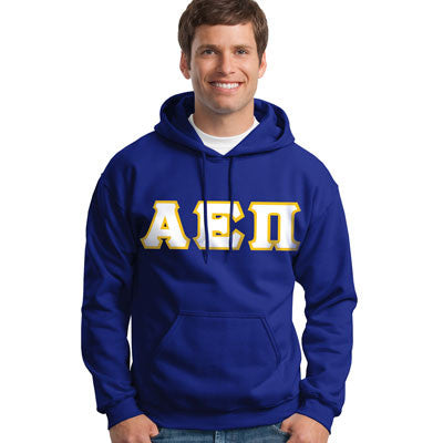 Alpha Epsilon Pi Hooded Sweatshirt - Gildan 18500 - TWILL