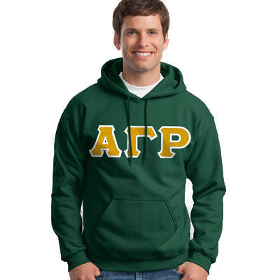 Alpha Gamma Rho Hooded Sweatshirt - Gildan 18500 - TWILL