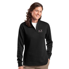 Sorority Quarter-Zip with Embroidered Greek Letters - Jerzees 995M - EMB