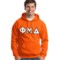Phi Mu Delta Hooded Sweatshirt - Gildan 18500 - TWILL