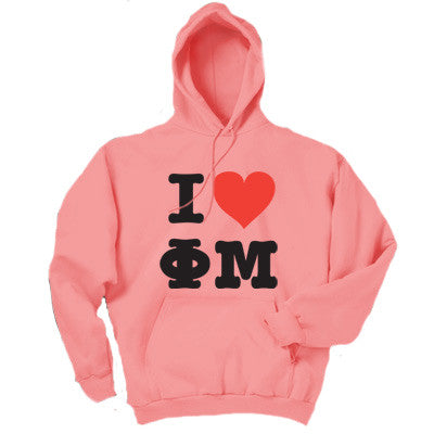 I Love.. Printed Sorority Hoody - Gildan 18500 - CAD