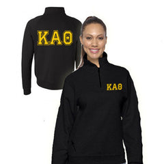 Sorority Varsity Printed Quarter-Zip Pullover - SALE Jerzees 995M - CAD