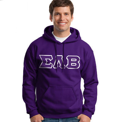 Sigma Lambda Beta Hooded Sweatshirt - Gildan 18500 - TWILL