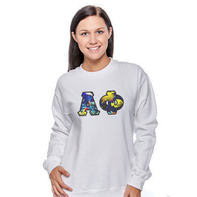 Sorority Panoramic Printed Crewneck - Gildan 18000 - SUB
