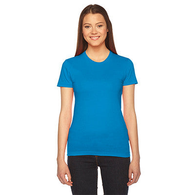 Alpha Gamma Delta Embroidered Jersey Tee - American Apparel 2102 - EMB