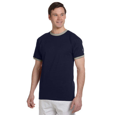 Greek Champion Ringer Tee - Champion T1396 - TWILL