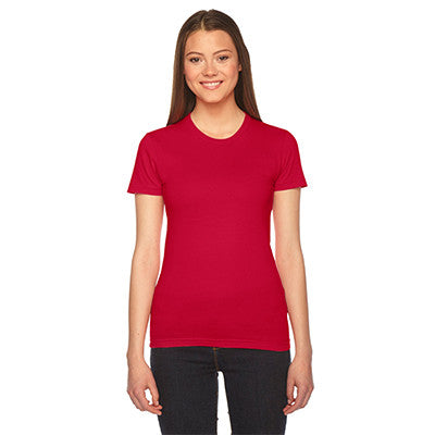 Alpha Phi Embroidered Jersey Tee - American Apparel 2102 - EMB