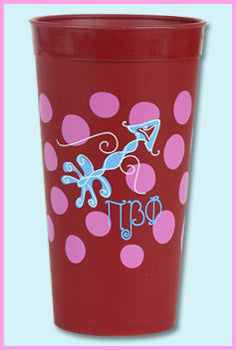 Pi Beta Phi Polka Dot Tumbler - Alexandra Co. a1046