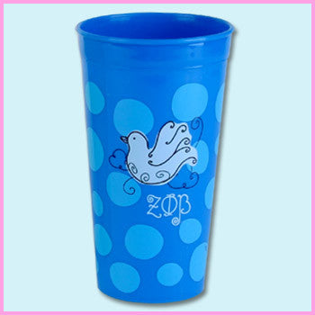 Zeta Phi Beta Polka Dot Tumbler - Alexandra Co. a1046