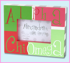 Alpha Chi Omega Block Photo Frame - Alexandra Co. a1047