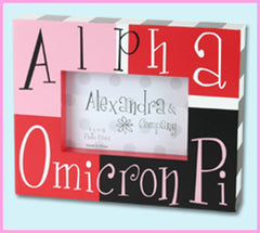 Alpha Omicron Pi Block Photo Frame - Alexandra Co. a1047