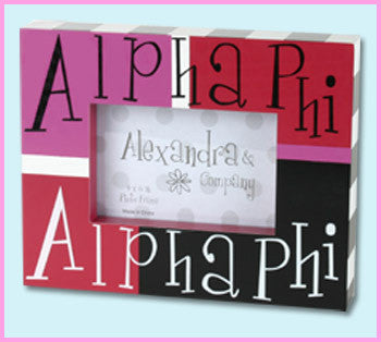 Alpha Phi Block Photo Frame - Alexandra Co. a1047