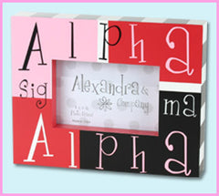 Alpha Sigma Alpha Block Photo Frame - Alexandra Co. a1047