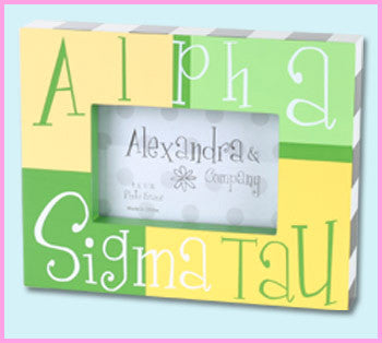 Alpha Sigma Tau Block Photo Frame - Alexandra Co. a1047