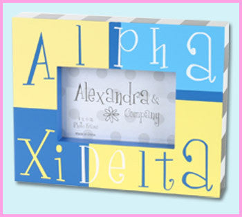 Alpha Xi Delta Block Photo Frame - Alexandra Co. a1047