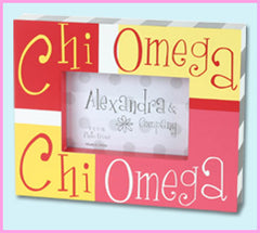 Chi Omega Block Photo Frame - Alexandra Co. a1047