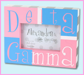 Delta Gamma Block Photo Frame - Alexandra Co. a1047