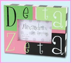 Delta Zeta Block Photo Frame - Alexandra Co. a1047