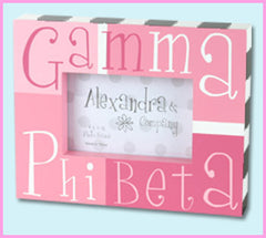 Gamma Phi Beta Block Photo Frame - Alexandra Co. a1047