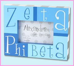 Zeta Phi Beta Block Photo Frame - Alexandra Co. a1047