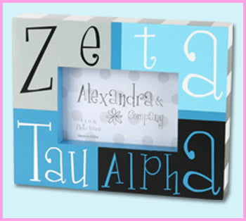 Zeta Tau Alpha Block Photo Frame - Alexandra Co. a1047