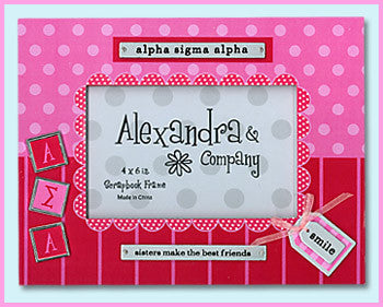 Alpha Sigma Alpha Scrapbook Frame - On Sale - Alexandra Co. a1059