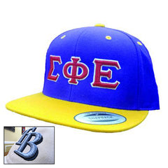 Embroidered 3D Snapback Flat Visor Fraternity Cap - Yupoong 6089 - EMB