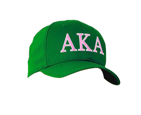 Alpha Kappa Alpha 2-Color Embroidered Cap - Port and Company CP80 - EMB