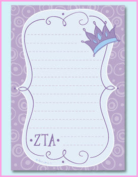 Zeta Tau Alpha Mascot Pad - On Sale - Alexandra Co. a2005
