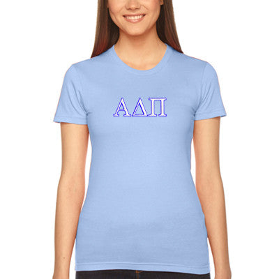 Alpha Delta Pi Embroidered Jersey Tee - American Apparel 2102W - EMB
