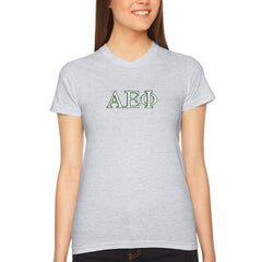 Alpha Epsilon Phi Embroidered Jersey Tee - American Apparel 2102W - EMB