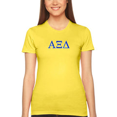 Alpha Xi Delta Embroidered Jersey Tee - American Apparel 2102W - EMB
