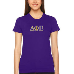 Delta Phi Epsilon Embroidered Jersey Tee - American Apparel 2102W - EMB