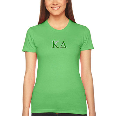 Kappa Delta Embroidered Jersey Tee - American Apparel 2102W - EMB