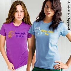 Sorority Mascot Printed Tee - American Apparel 2102 - CAD