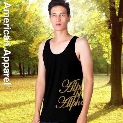 Alpha Phi Alpha Fraternity Printed Tank - American Apparel 2408W - CAD