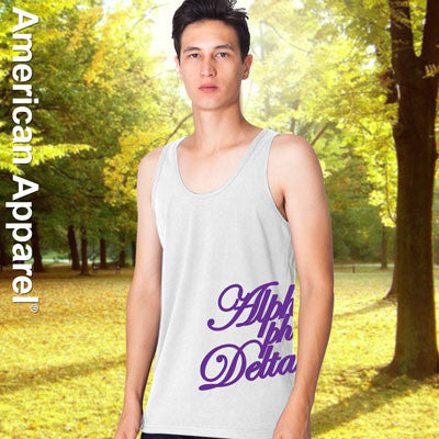 Alpha Phi Delta Fraternity Printed Tank - American Apparel 2408 - CAD