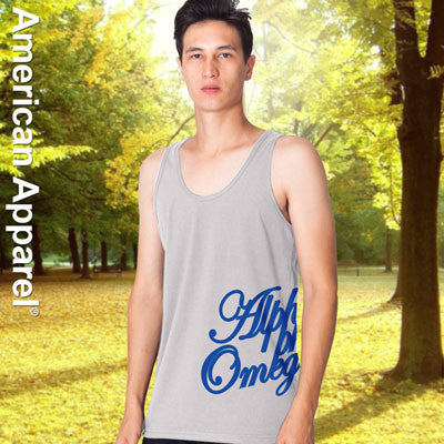 Alpha Phi Omega Fraternity Printed Tank - American Apparel 2408 - CAD