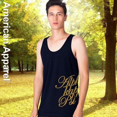 Alpha Kappa Psi Fraternity Printed Tank - American Apparel 2408 - CAD