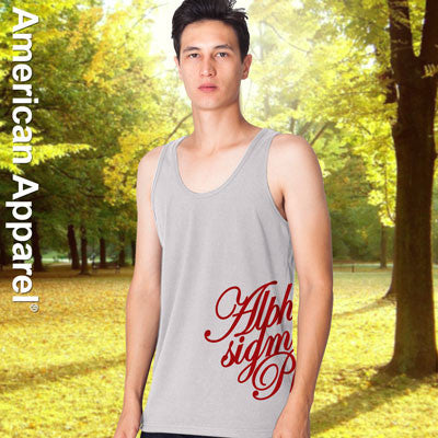 Alpha Sigma Phi Fraternity Printed Tank - American Apparel 2408W - CAD