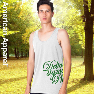 Delta Sigma Phi Fraternity Printed Tank - American Apparel 2408W - CAD