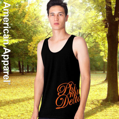Phi Mu Delta Fraternity Printed Tank - American Apparel 2408 - CAD