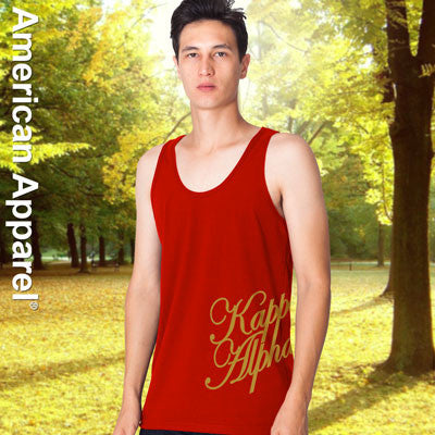 Kappa Alpha Fraternity Printed Tank - American Apparel 2408 - CAD