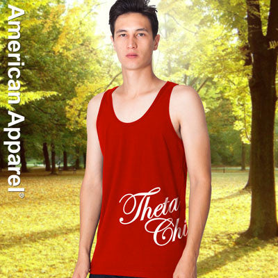 Theta Chi Fraternity Printed Tank - American Apparel 2408W - CAD