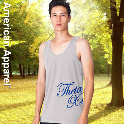 Theta Xi Fraternity Printed Tank - American Apparel 2408 - CAD