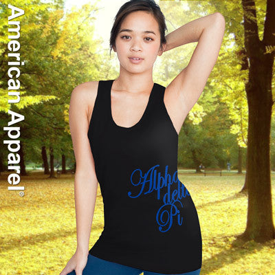 Alpha Delta Pi Sorority Printed Tank Top - American Apparel 2408W - CAD
